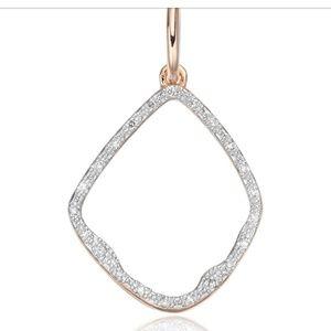 Monica vinader Riva diamond hoop pendant rose gold